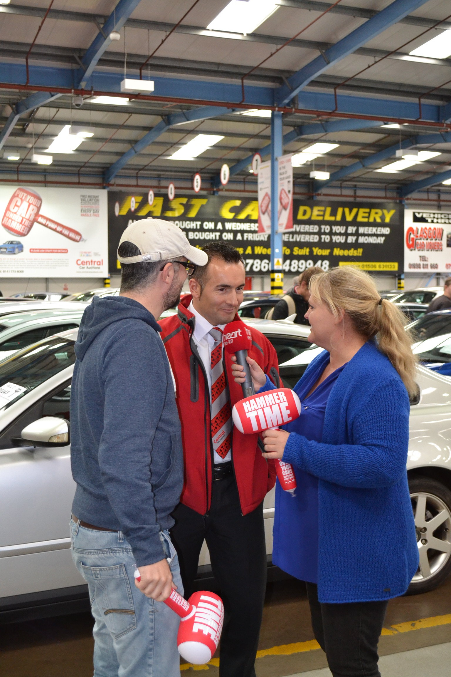 central certainly made some noise today for central car auctions its heart angels charity donation collectors and gave an impromptu interview to the star presenters on the high paced verbal technique of auctioneering